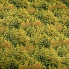 Wild Naturescape, Trees Foliage Landscape, Cotton Quilting Fabric Per 1/2 Yd