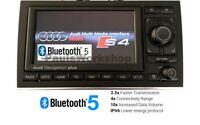 Original Audi RNS-E Navigation PLUS Bluetooth 5.0 + AUX A4 S4 RS4 8E B6 B7 04-09
