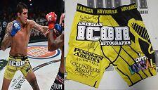 Kendall Grove Signed Bellator 143 Fight Worn Used Shorts Trunks BAS Beckett COA