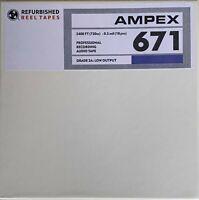 "Ampex 671 Reel to Reel Recording Tape, DP, 7"" Reel, 2400 ft, Refurbished"