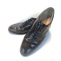Men's Johnston & Murphy Heritage Oxfords Shoes Size 8.5D Burgundy Wingtip