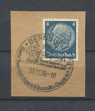 German Reich WW II : Fancy cancel from 1938 - Bernburg