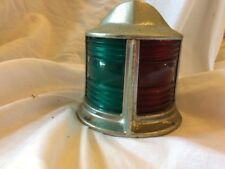 VINTAGE NAUTICAL MARINE BOAT BOW LIGHT RED & GREEN