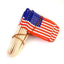 50 Cupcake Picks Cake Toppers Decor USA American Flag Party Supplies Decor