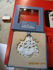 Wedgwood White Jasper Hark The Herald Angels Sing Christmas Ornament England Rl