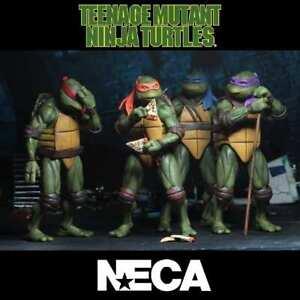 -=]NECA - TMNT Teenage Mutant Ninja Turtles 1990 Movie Set di 4 Action Figure[=-