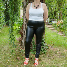 Pantalon leggings simili Femme Grande Taille 50 noir LORNA ZAZA2CATS new