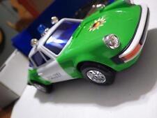 Aladdin (Hong Kong) Green/White Porsche 911 Targa Polizei Plastic/Electric 1:20