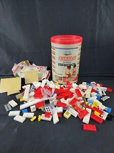 Vintage Halsam American Plastic Bricks Elgo original Container #725 (? Pieces)