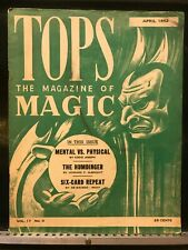 Tops The Magazine of Magic April 1952 - Eddie Joseph, Albright, De Macedo - Roxy