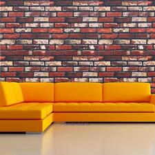 Natural Removable Brick Wallpaper Sticker Adhesive Paste for Living Room Bedroom
