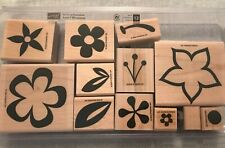 Stampin Up 2005 Island Blossoms Set Of 12 Mounted Rubber Stamp Su Scrapbooking