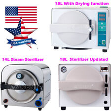 US 14/18L Dental Autoclave Steam Sterilizer Medical Sterilization Lab Equipment
