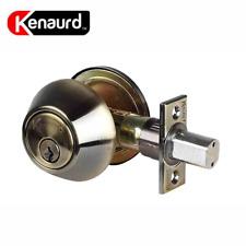 World and Main 20513047 Entry /& Single Deadbolt Lock Set Antique Brass
