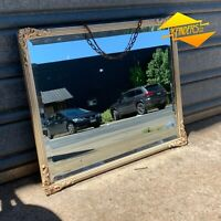 SUPERB ANTIQUE c.1920s BEVELLED VICTORIAN FRAMED MIRROR DECO DECOR SHABBY ORNATE
