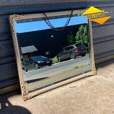 Superb Antique c.1920s Bevelled Victorian Framed Mirror Deco Decor Shabby Ornate
