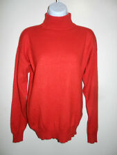 MEN'S CHARTER CLUB 100% CASHMERE BRIGHT RED MOCK NECK LONG SLEEVES SWEATER S