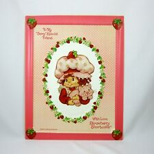 Strawberry Shortcake Plastic Embossed 3-D Picture 12 by 9.5 Vintage 1982 AGC
