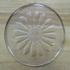 1970s Dartington Glass Daisy Cheese / Butter Plate Platter - Frank Thrower