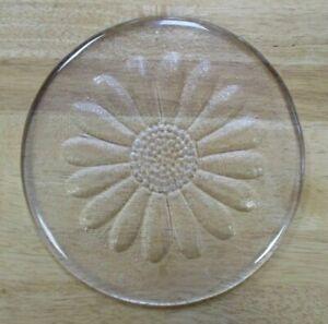 1970s Dartington Glass Daisy Cheese / Butter Plate Platter - Frank Thrower