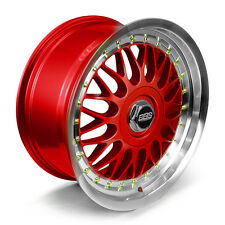 BBS RS Alloy Wheels Rim Sports Mags 17X8 8 Stud 4x100 Sets of 4 MI RED