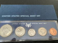 1966 US Special Mint Set 5 Coins  Original Box 40% Silver Kennedy Half