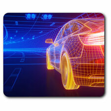 Computer Mouse Mat - 3D Wireframe Modern Sports Car Office Gift #21064
