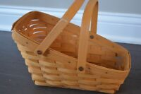 SO CUTE!!! Longaberger Basket with 2 moving handles 1999