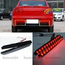 Black Smoked Lens LED Tail Brake Stop Light For Mazda 3 Axela Bumper Reflector