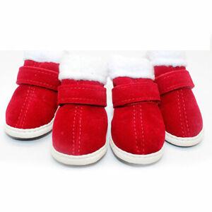 4pcs Soft Pet Dog Shoes Pet Supplies Lovely Warm Puppy Sneakers Pet Snow Boots