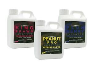 Crafty Catcher Superfood Feeding Cloud 1ltr Carp Bait Prawn Peanut Plum