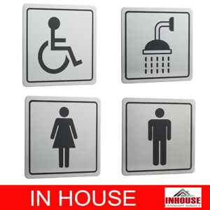 Male Female Shower Accessible sign toilet bathroom changing room washroom