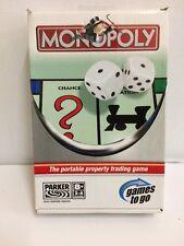 PARKER Monopoly de voyage jeu partie mobile Scellé