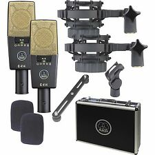 AKG C 414 XL II/ Matched Stereo Pair Studio Mic Set C414 XL2 NEW