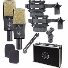 AKG C 414 XL II/ Matched Stereo Pair Studio Mic Set C414 XL2 NEW