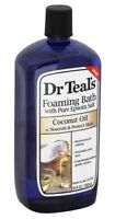 Dr. Teal's Foaming Epsom Salt Bath, Coconut Oil, 34 oz