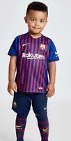 CL3# Nike FC Barcelona Boys Children 2018/9 Home Kit With Socks Size 28