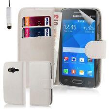 Custodie portafoglio bianca per Samsung Galaxy Ace