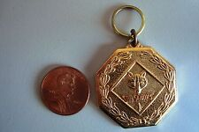 BOY SCOUTS AMERICA BSA CUB SCOUTS WOLF GOLD KEYCHAIN