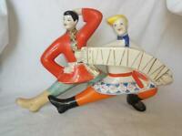 Russischer Tanz mit einem Akkordeon UdSSR Russische Porzellanfigur 9614d