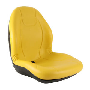 """New Complete Tractor Seat 3010-0060 Yellow Medium Back 21"""" Height"""