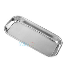 Dental 201 Stainless Steel Medical Tray Lab Instrument Tool Useful glf
