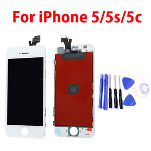For iPhone 5 5S 5C LCD Display Touch Screen Digitizer + Frame Assembly +Tool