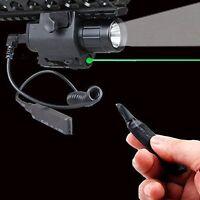 Combo LED Flashlight&Red/Green laser sight QD 20MM rail for Pistol gun hunting