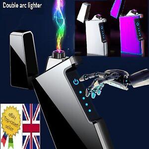 NEW YEAR PRESENT - USB DOUBLE ARC LIGHTER. PLASMA ,WIND PROOF + GIFT BOX. USB