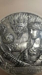 Quetzalcoatl Gods Of The World 3 Oz Silver Coin Cook Islands 2017