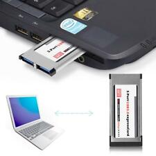 2 port USB 3.0 Express Karte Express Card 34mm expressCard Hub Netbook Notebook