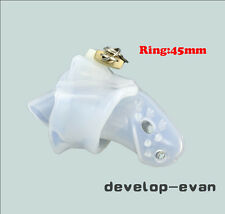 Clear Silicone spikes  Male Chastity Dick Cage Fixed 45mm Ring New A140-1