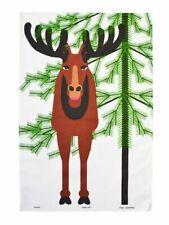 New, ALMEDAHLS Ruben I Hunt FABRIC TEA TOWEL CHRISTMAS DESIGN BY JUKOMERO