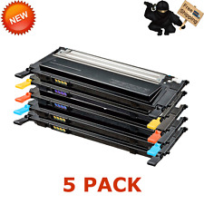 5 PACK CLT-K409S Combo Color Toner Set For Samsung 409 CLP310 CLP310N CLP315
